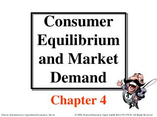 Consumer Equilibrium and Market Demand