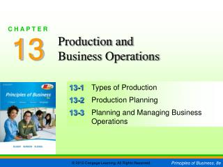 13-1	 Types of Production 13-2	 Production Planning