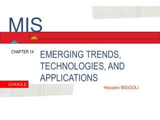 EMERGING TRENDS, TECHNOLOGIES, AND APPLICATIONS