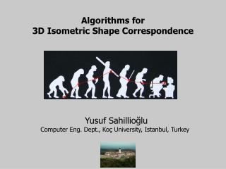 Algorithms for 3D Isometric Shape Correspondence