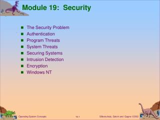 Module 19:  Security