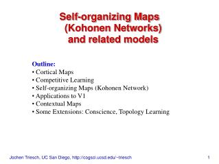 Self-organizing Maps (Kohonen Networks) and related models