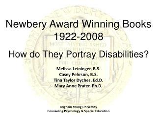 Newbery Award Winning Books  1922-2008