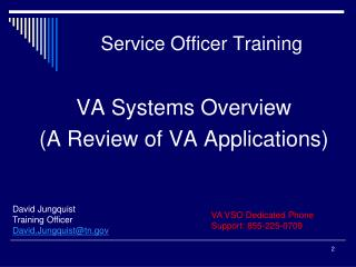 Service Officer Training