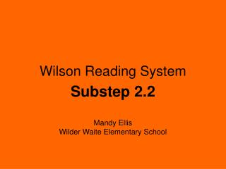 Wilson Reading System