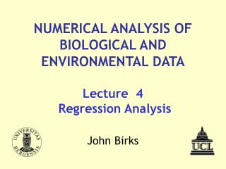Lecture  4  Regression Analysis