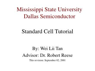 Standard Cell Tutorial