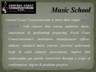 Learn Music Together Through the School of Music