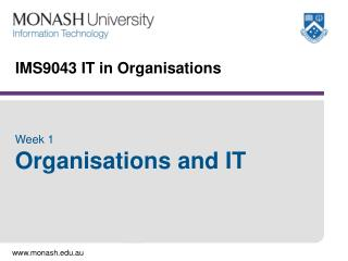IMS9043 IT in Organisations