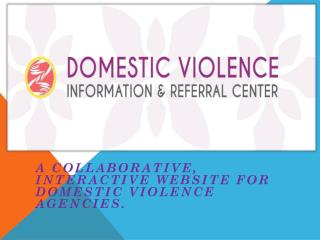 A collaborative , interactive website for domestic violence agencies.