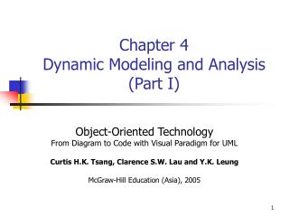 Chapter 4 Dynamic Modeling and Analysis (Part I)