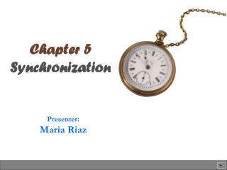 Chapter 5 Synchronization