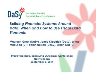 Improving Data, Improving Outcomes Conference New Orleans September 9, 2014