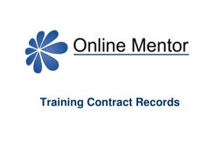 Training Contract Records