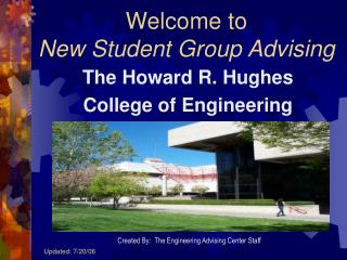 Welcome to  New Student Group Advising
