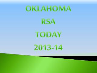 OKLAHOMA RSA TODAY 2013-14