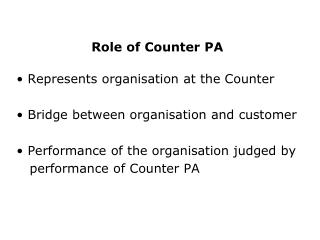 Role of Counter PA