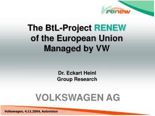 Dr. Eckart Heinl Group Research