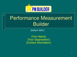Performance Measurement Builder