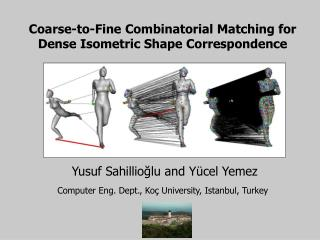 Coarse-to-Fine Combinatorial Matching for Dense Isometric Shape Correspondence