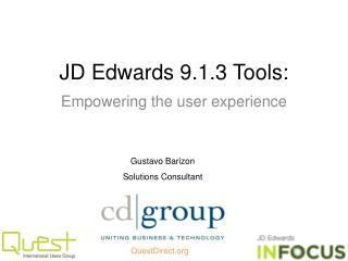 JD Edwards 9.1.3 Tools: