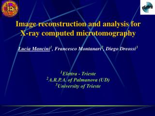 Image reconstruction and analysis for  X-ray computed microtomography