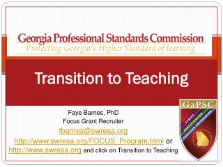 Transition to Teaching