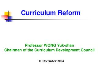 Curriculum Reform