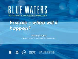 Exscale – when will it happen?