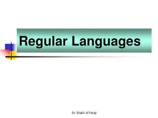 Regular Languages
