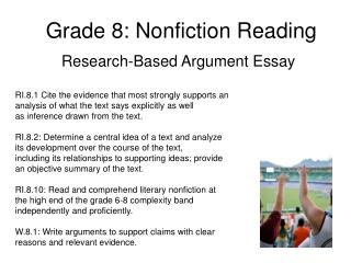 Grade 8: Nonfiction Reading