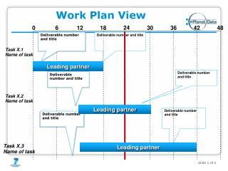 Work Plan View