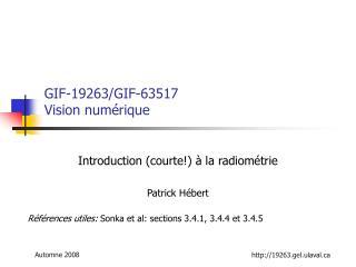 GIF-19263/GIF-63517 Vision numérique
