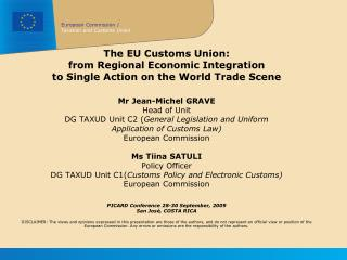 The EU Customs Union:  from Regional Economic Integration