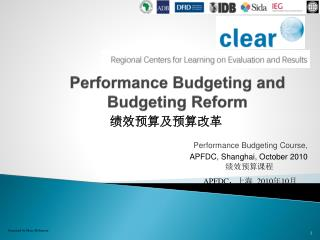 Performance Budgeting and Budgeting Reform