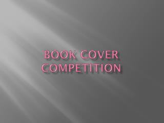 BOOK COVER COMPETITION