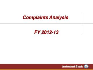 Complaints Analysis