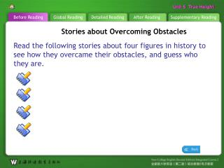 B R \_  Stories about Overcoming Obstacles1
