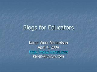 Blogs for Educators