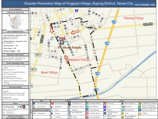 Disaster Prevention Map of Yingqian Village, Xiaying District, Tainan City