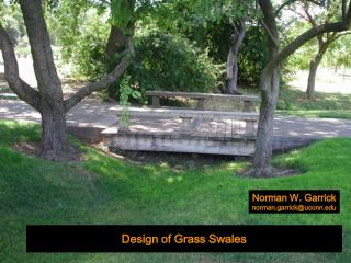 Design of Grass Swales