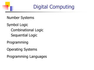 Digital Computing