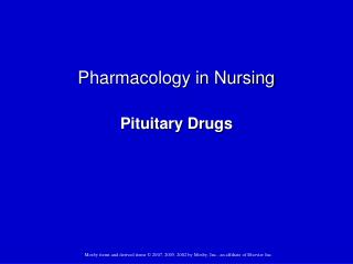 Pharmacology in Nursing Pituitary Drugs