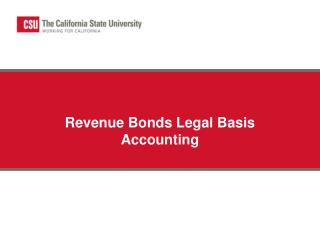 Revenue Bonds Legal Basis Accounting