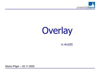 Overlay  in ArcGIS
