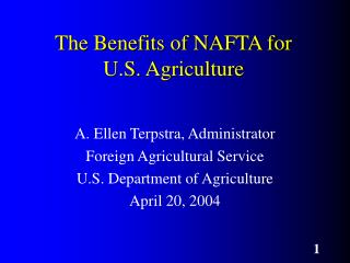The Benefits of NAFTA for U.S. Agriculture