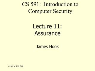 Lecture 11: Assurance