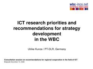 Consultation session on recommendations for regional cooperation in the field of ICT