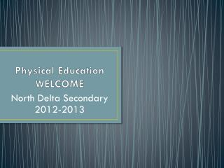 Physical Education  WELCOME