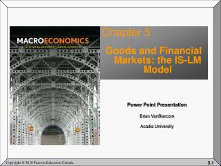 Chapter 5 Goods and Financial Markets: the IS-LM Model